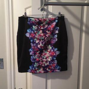Floral mini skirt Express